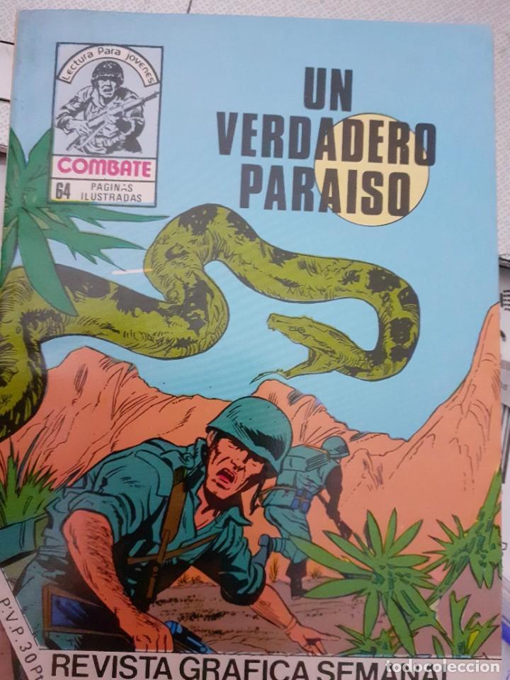 Tebeos: COMBATE-NOVELA GRÁFICA- Nº 243 -UN VERDADERO PARAÍSO-1981-MUY DIFÍCIL-MUY BUENO-LEA- 4781 - Foto 2 - 264332884