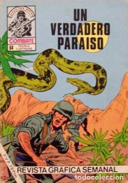 COMBATE-NOVELA GRÁFICA- Nº 243 -UN VERDADERO PARAÍSO-1981-MUY DIFÍCIL-MUY BUENO-LEA- 4781 (Tebeos y Comics - Ferma - Combate)