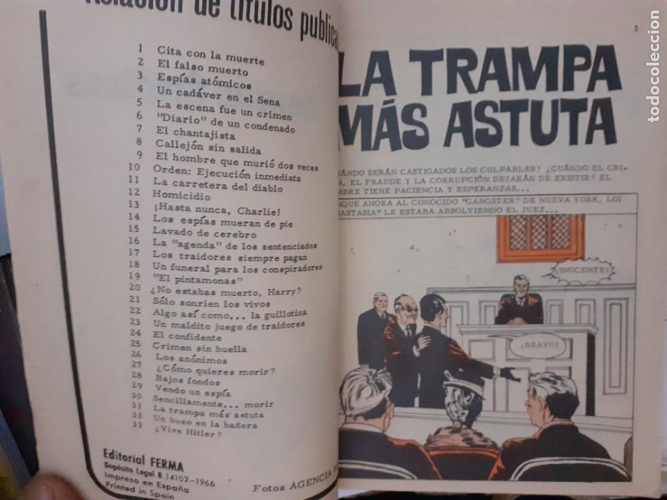 Tebeos: AGENTE SECRETO-FERMA- Nº 31 -LA TRAMPA MÁS ASTUTA-1966-JORDI BADESA-CASI BUENO-ÚNICO EN TC-LEA-4952 - Foto 5 - 266589393