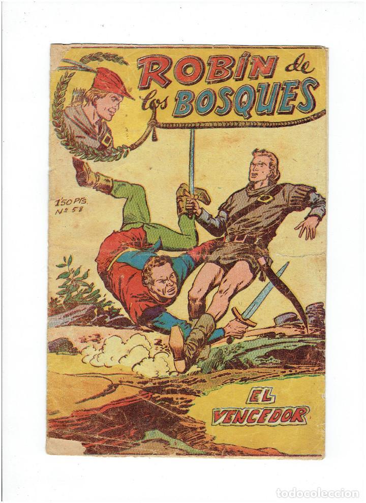 ARCHIVO * ROBIN DE LOS BOSQUES * Nº 58 EL VENCEDOR * ED. FERMA 1955 * (Tebeos y Comics - Ferma - Otros)