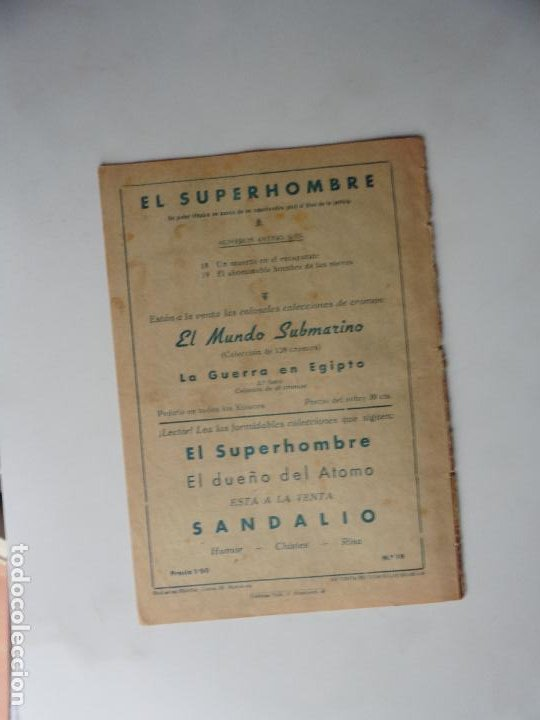 Tebeos: SUPERHOMBRE Nº 19 FERMA ORIGINAL - Foto 2 - 269944088