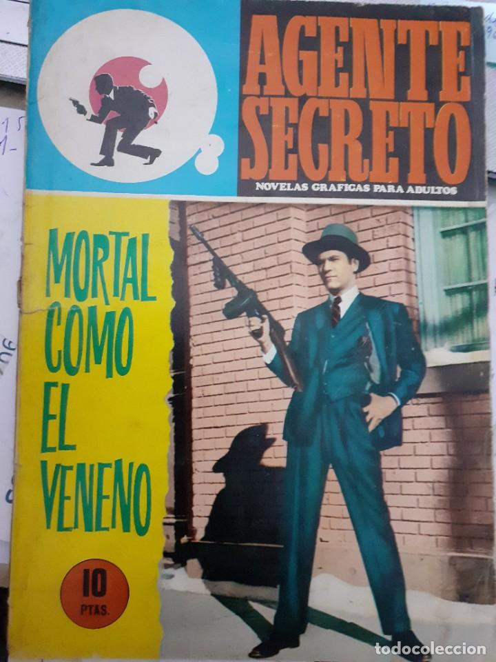 Tebeos: AGENTE SECRETO- Nº 36 -MORTAL COMO EL VENENO-1966-CASI BUENO-GRAN XAVIER MUSQUERA-DIFÍCIL-LEAN-5041 - Foto 2 - 269967373
