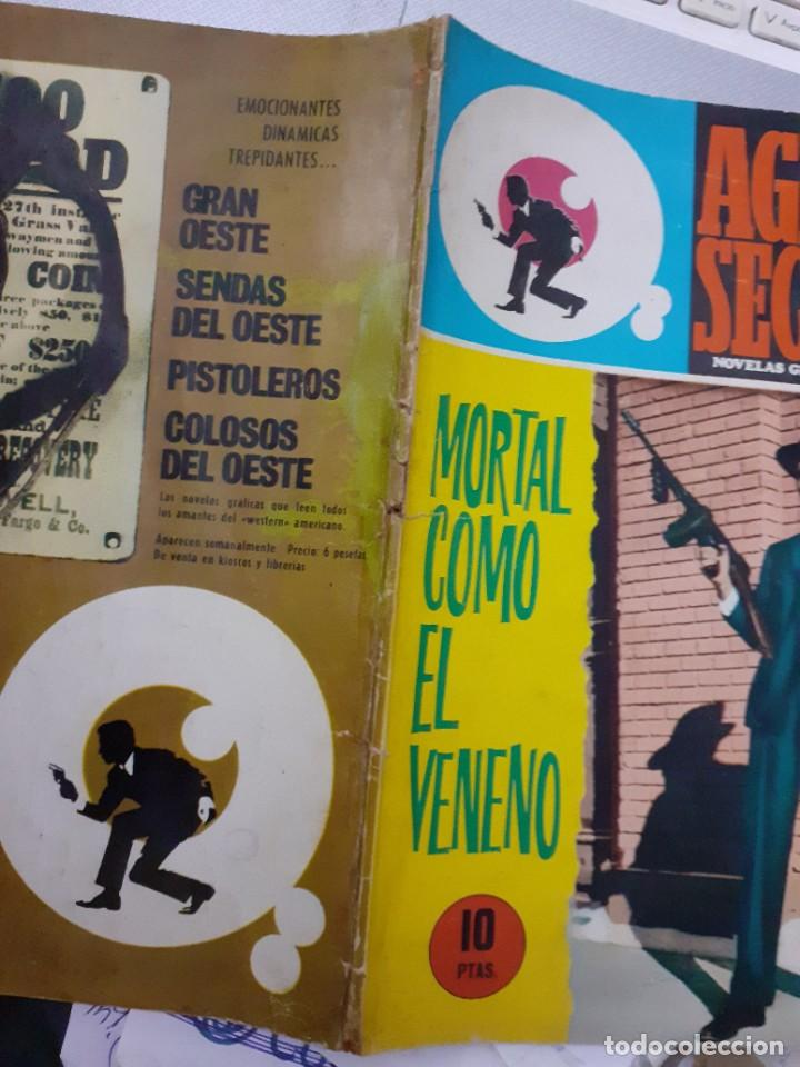 Tebeos: AGENTE SECRETO- Nº 36 -MORTAL COMO EL VENENO-1966-CASI BUENO-GRAN XAVIER MUSQUERA-DIFÍCIL-LEAN-5041 - Foto 3 - 269967373