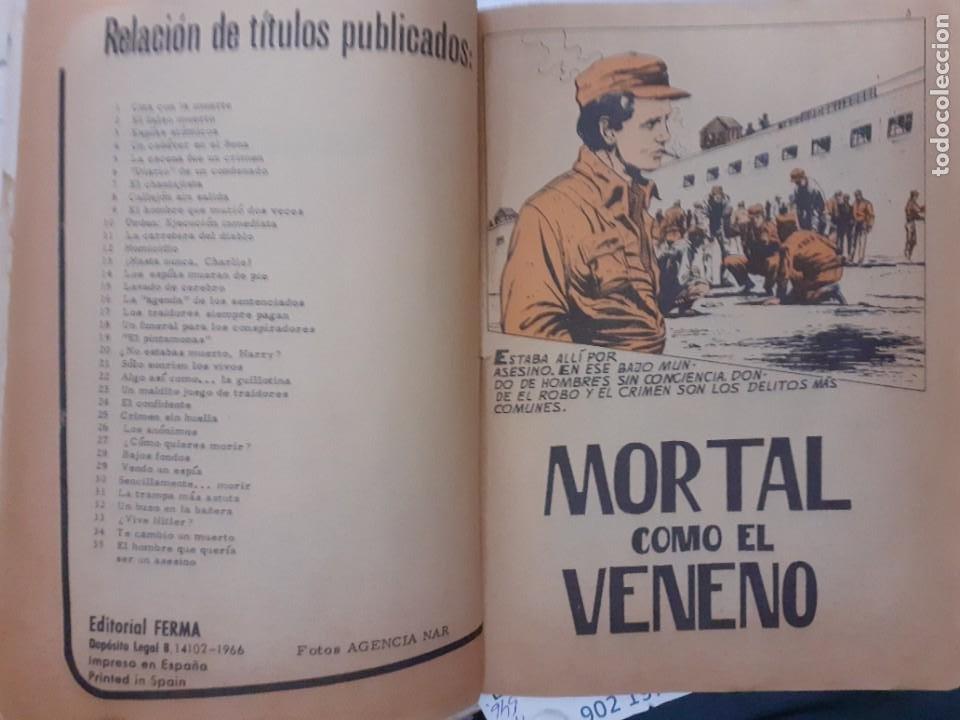 Tebeos: AGENTE SECRETO- Nº 36 -MORTAL COMO EL VENENO-1966-CASI BUENO-GRAN XAVIER MUSQUERA-DIFÍCIL-LEAN-5041 - Foto 5 - 269967373
