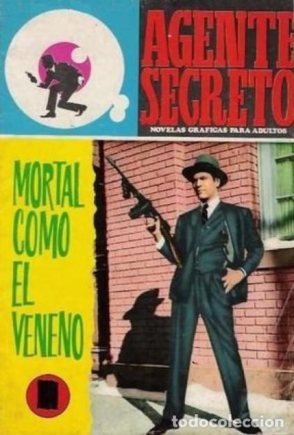 AGENTE SECRETO- Nº 36 -MORTAL COMO EL VENENO-1966-CASI BUENO-GRAN XAVIER MUSQUERA-DIFÍCIL-LEAN-5041 (Tebeos y Comics - Ferma - Agente Secreto)