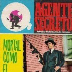 Tebeos: AGENTE SECRETO- Nº 36 -MORTAL COMO EL VENENO-1966-CASI BUENO-GRAN XAVIER MUSQUERA-DIFÍCIL-LEAN-5041. Lote 269967373
