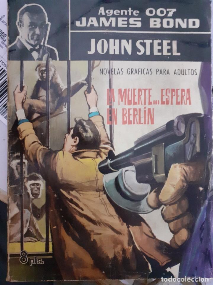 AGENTE 007 JAMES BOND- Nº 15 -LA MUERTE...ESPERA EN BERLÍN-1966-JULIO MONTAÑÉS-BUENO-DIFÍCIL-5049 (Tebeos y Comics - Ferma - Agente Secreto)