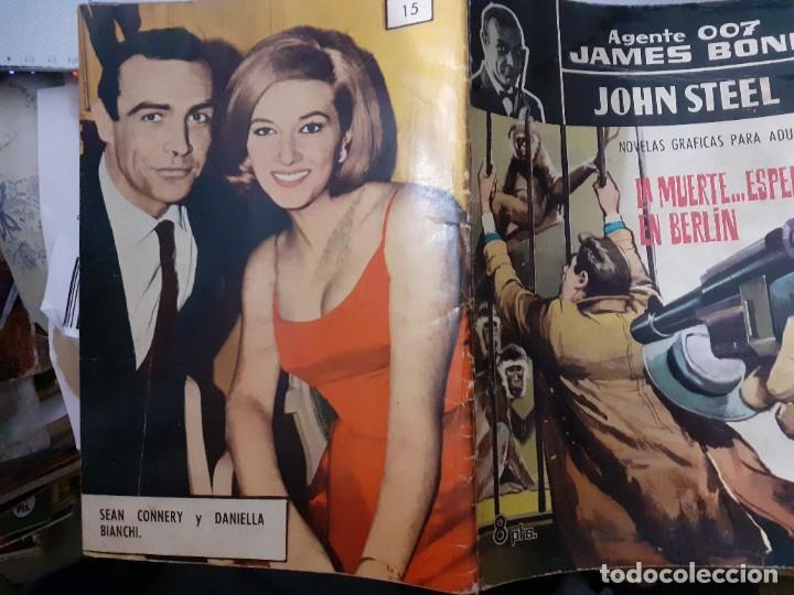 Tebeos: AGENTE 007 JAMES BOND- Nº 15 -LA MUERTE...ESPERA EN BERLÍN-1966-JULIO MONTAÑÉS-BUENO-DIFÍCIL-5049 - Foto 2 - 271416388