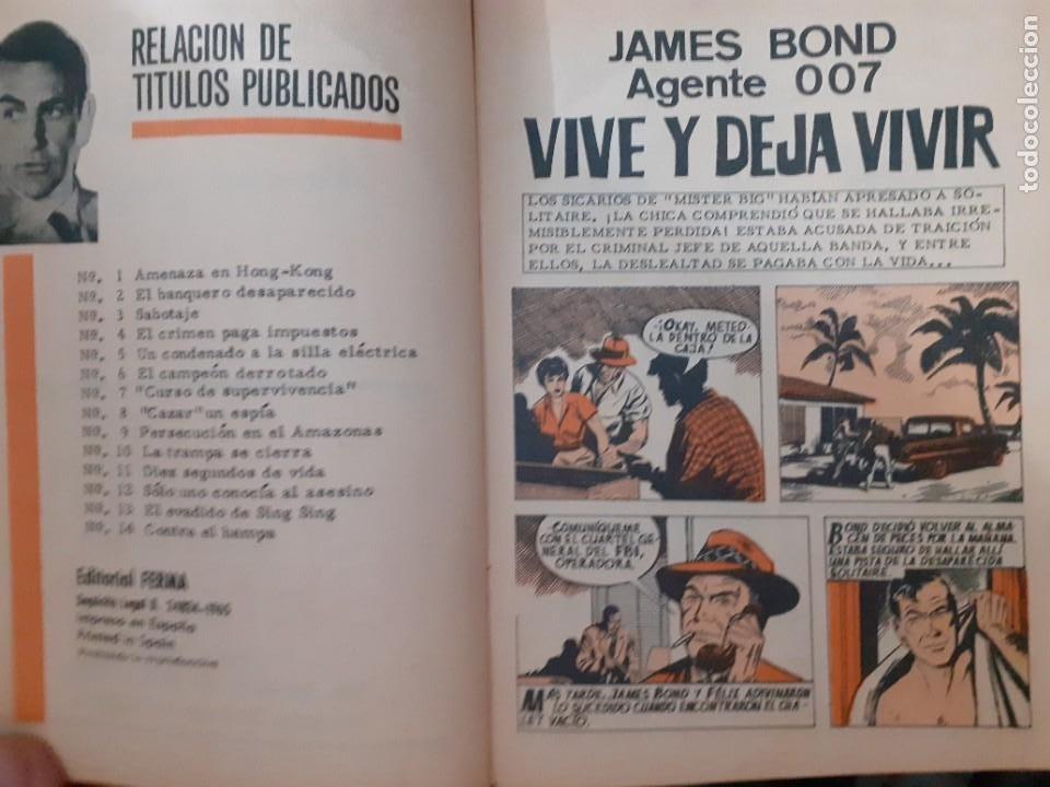 Tebeos: AGENTE 007 JAMES BOND- Nº 15 -LA MUERTE...ESPERA EN BERLÍN-1966-JULIO MONTAÑÉS-BUENO-DIFÍCIL-5049 - Foto 3 - 271416388