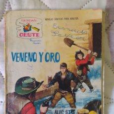 Tebeos: AUTÉNTICA NOVELA DEL OESTE DEL AÑO 1962--SENDAS DEL OESTE--VENENO Y ORO-- EN BUEN ESTADO DE CONSERVA. Lote 272571733