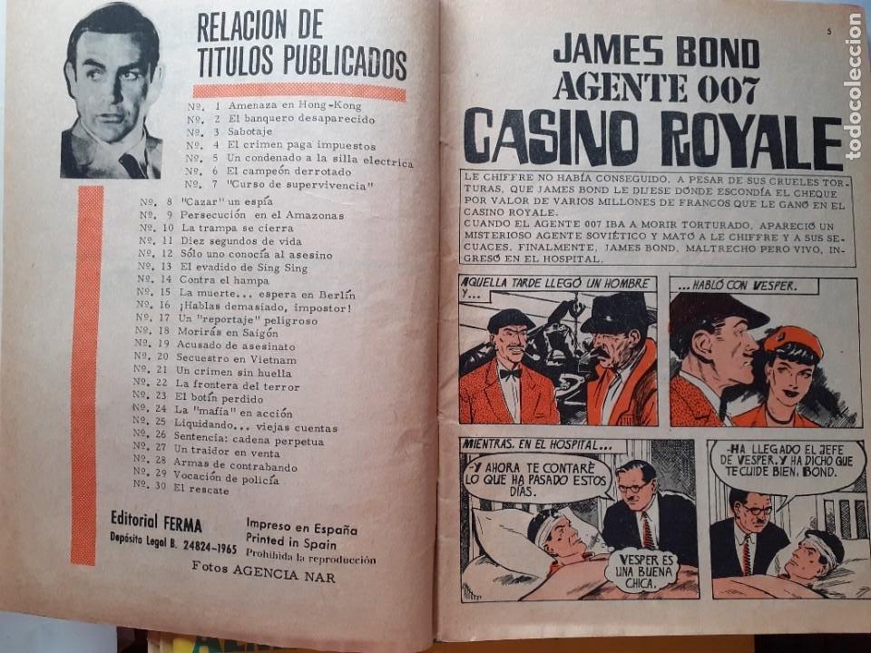 Tebeos: AGENTE 007 JAMES BOND- Nº 31 -NO TE METAS EN LÍOS, MIKE-1966-THOMAS OVERGARD-BUENO-DIFÍCIL-5089 - Foto 4 - 274338928