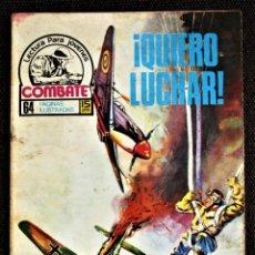 Tebeos: COMBATE NOVELA GRÁFICA Nº 47 ¡ QUIERO LUCHAR ! PRODUCCIONES EDITORIALES 1976 VER DESCRIPCIÓN Y FOTOS. Lote 274754583