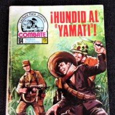 Tebeos: COMBATE NOVELA GRÁFICA Nº 61 ¡HUNDID AL YAMATI! PRODUCCIONES EDITORIALES1977 VER DESCRIPCIÓN Y FOTOS. Lote 274768078