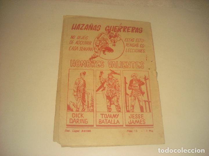 Tebeos: HOMBRES VALIENTES N. 13 DICK DARING , LA VENGANZA DEL LADRON. - Foto 2 - 276061773