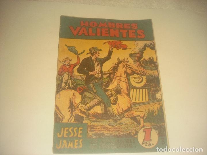 HOMBRES VALIENTES N. 3, JESSE JAMES. LOS EXPOLIADORES DEL FERROCARRIL. (Tebeos y Comics - Ferma - Otros)