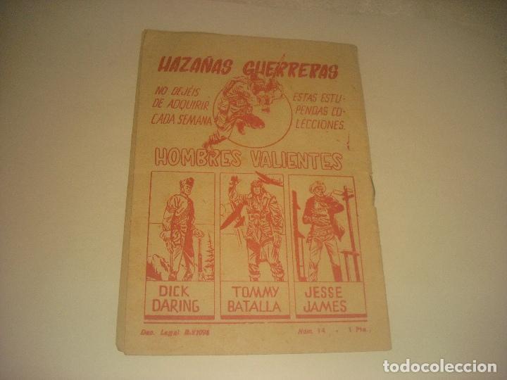 Tebeos: HOMBRES VALIENTES N. 14 DICK DARING , LA EMBOSCADA DEL RIO DEL AGUILA. - Foto 2 - 276064913