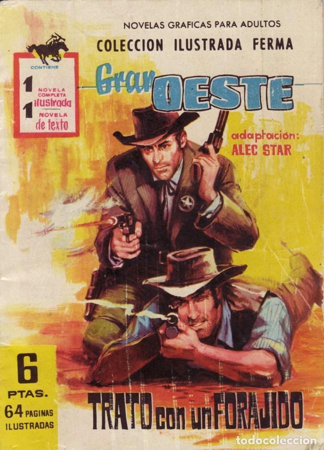 GRAN OESTE-FERMA- Nº 181 -TRATO CON UN FORAJIDO-1961-JORGE BADÍA-JOAN LLARCH-REGULAR-LEA-5271 (Tebeos y Comics - Ferma - Gran Oeste)
