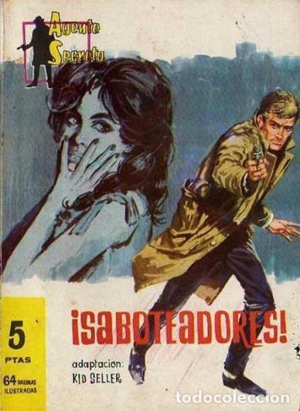 AGENTE SECRETO-FERMA- Nº 27 -¡SABOTEADORES!-1962-GRAN LUIS RAMOS-BUENO-ÚNICO EN TC-LEA-5272 (Tebeos y Comics - Ferma - Agente Secreto)