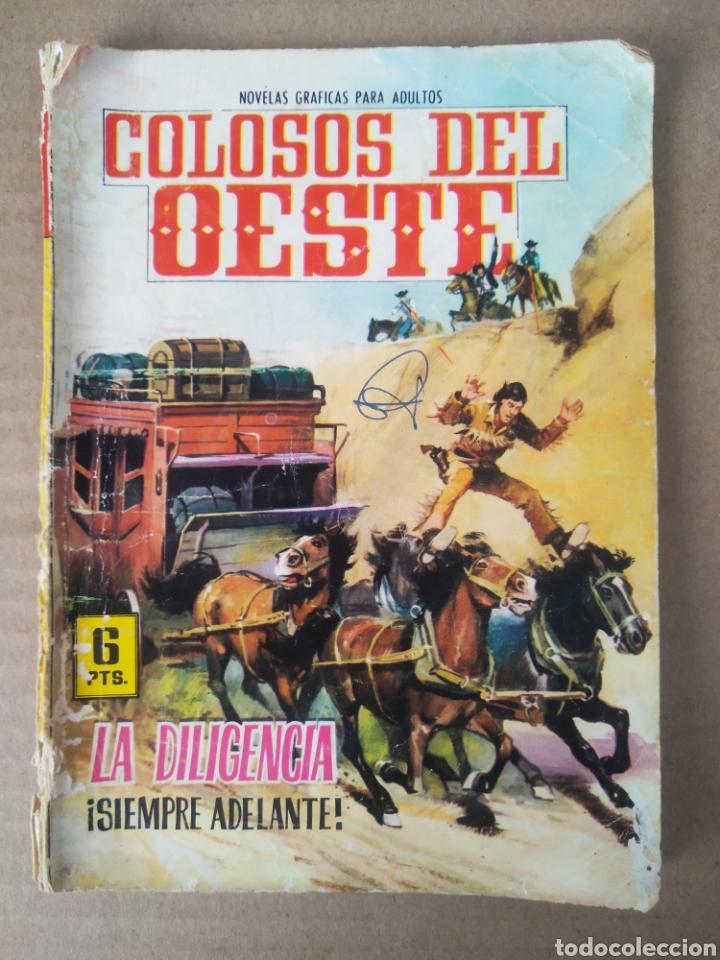 COLOSOS DEL OESTE N°42: LA DILIGENCIA SIEMPRE ADELANTE (FERMA, 1966). POR RICKY DICKINSON. (Tebeos y Comics - Ferma - Colosos de Oeste)