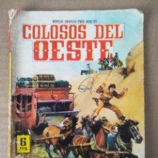 Tebeos: COLOSOS DEL OESTE N°42: LA DILIGENCIA SIEMPRE ADELANTE (FERMA, 1966). POR RICKY DICKINSON.. Lote 280725163