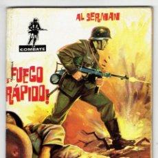 Tebeos: COMBATE Nº 13 ¡ FUEGO RÁPIDO ! (AL SERMAN) FERMA 1962. Lote 283204548