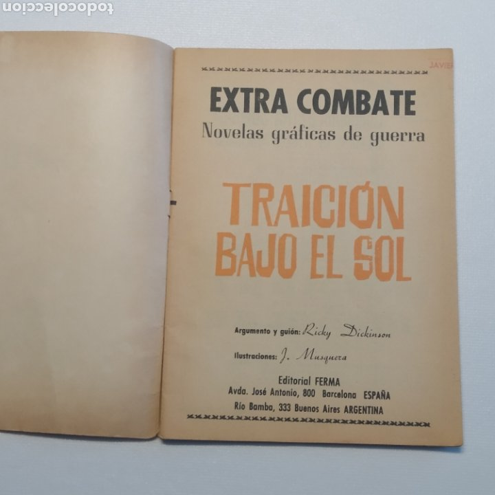 Tebeos: Lote 3 EXTRA COMBATE nº 30, 33 y 54 Editorial Ferma año 1965 - Foto 38 - 286711058