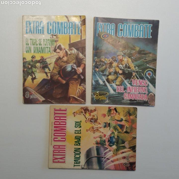 LOTE 3 EXTRA COMBATE Nº 30, 33 Y 54 EDITORIAL FERMA AÑO 1965 (Tebeos y Comics - Ferma - Combate)
