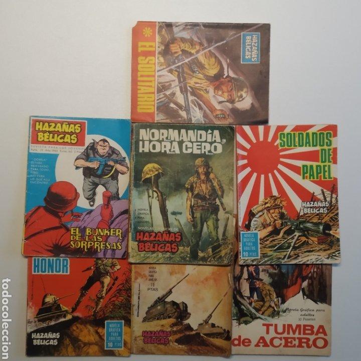 LOTE 7 HAZAÑAS BÉLICAS EDICIONES TORAY, NÚMEROS 33, 122, 126, 139, 149, 165 (EXTRA) Y 195 (Tebeos y Comics - Ferma - Combate)