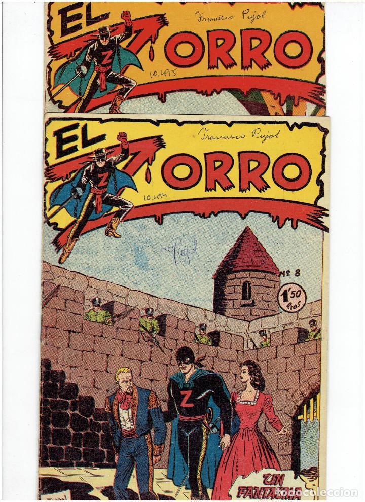 ARCHIVO * EL ZORRO * Nº 8, 9, 15, 19, * FERMA 1956 * ORIGINALES * (Tebeos y Comics - Ferma - Otros)
