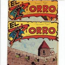Tebeos: ARCHIVO * EL ZORRO * Nº 8, 9, 15, 19, * FERMA 1956 * ORIGINALES *. Lote 286893638