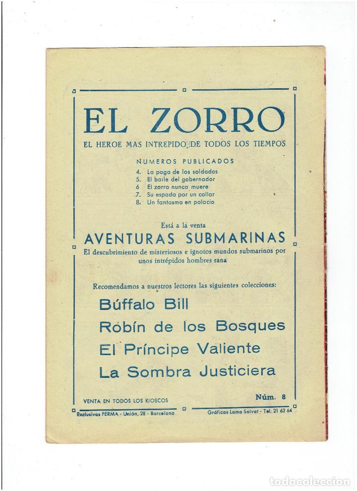 Tebeos: Archivo * EL ZORRO * Nº 8, 9, 15, 19, * FERMA 1956 * ORIGINALES * - Foto 3 - 286893638