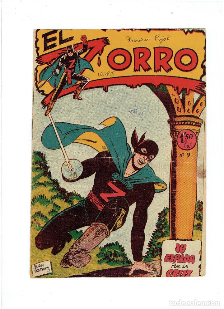 Tebeos: Archivo * EL ZORRO * Nº 8, 9, 15, 19, * FERMA 1956 * ORIGINALES * - Foto 4 - 286893638