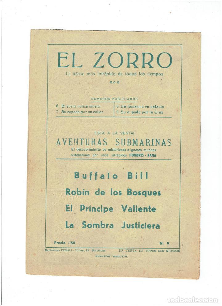 Tebeos: Archivo * EL ZORRO * Nº 8, 9, 15, 19, * FERMA 1956 * ORIGINALES * - Foto 5 - 286893638
