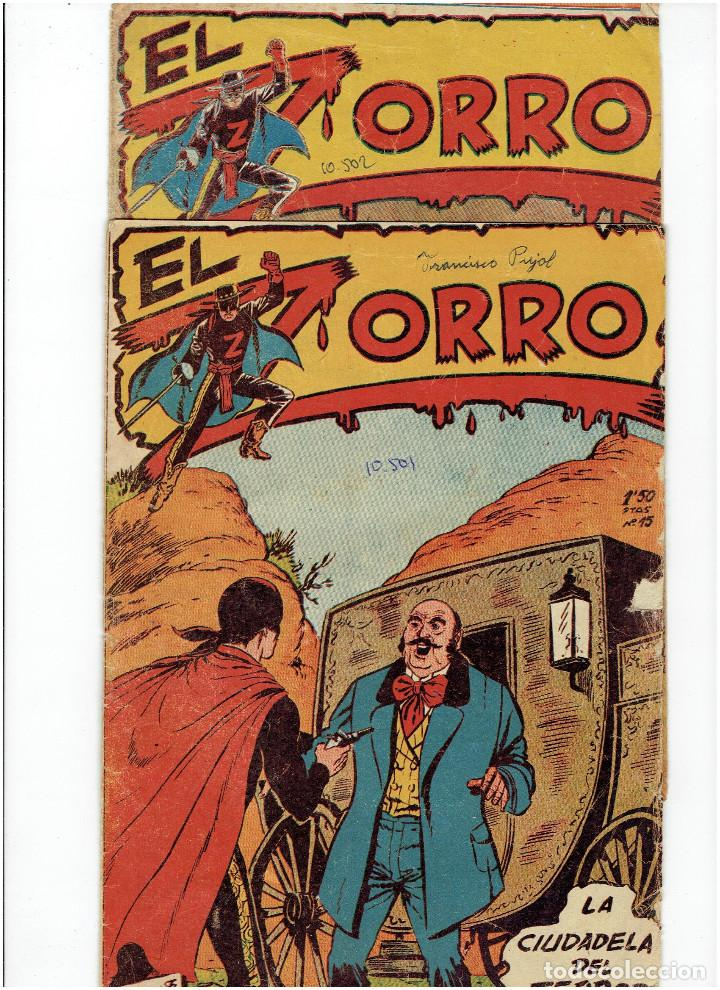 Tebeos: Archivo * EL ZORRO * Nº 8, 9, 15, 19, * FERMA 1956 * ORIGINALES * - Foto 6 - 286893638