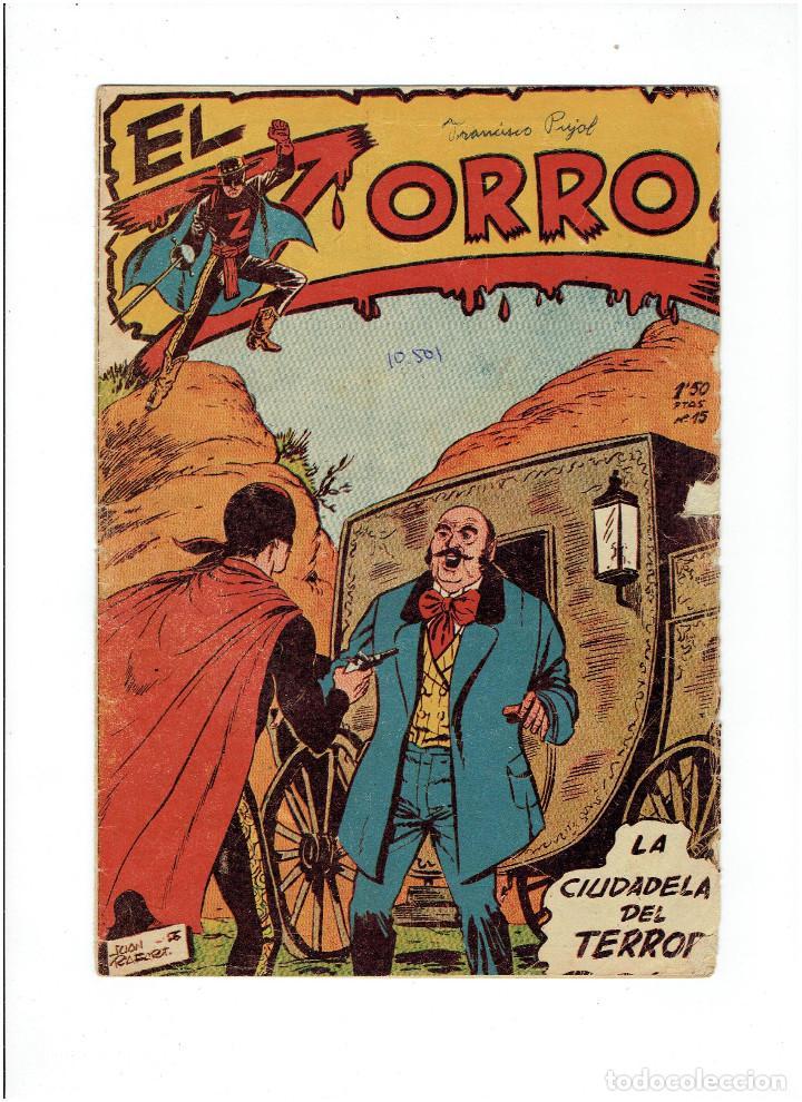 Tebeos: Archivo * EL ZORRO * Nº 8, 9, 15, 19, * FERMA 1956 * ORIGINALES * - Foto 7 - 286893638