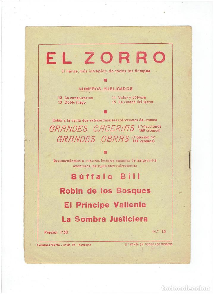 Tebeos: Archivo * EL ZORRO * Nº 8, 9, 15, 19, * FERMA 1956 * ORIGINALES * - Foto 8 - 286893638