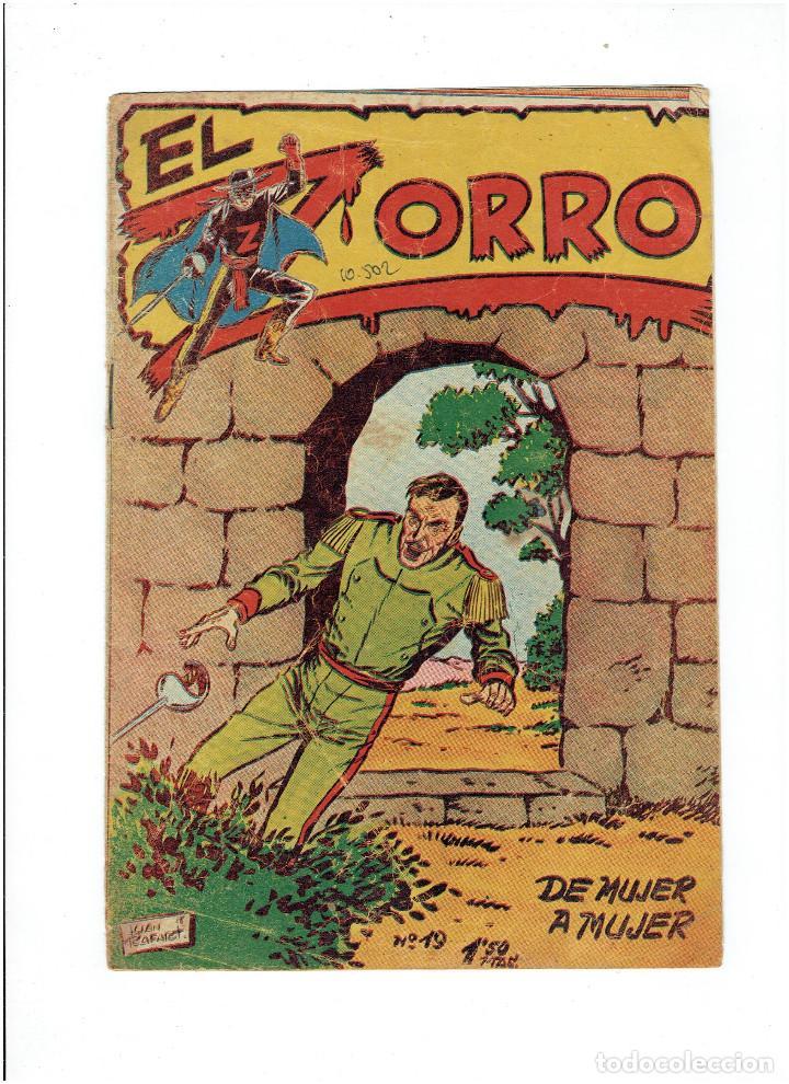 Tebeos: Archivo * EL ZORRO * Nº 8, 9, 15, 19, * FERMA 1956 * ORIGINALES * - Foto 9 - 286893638