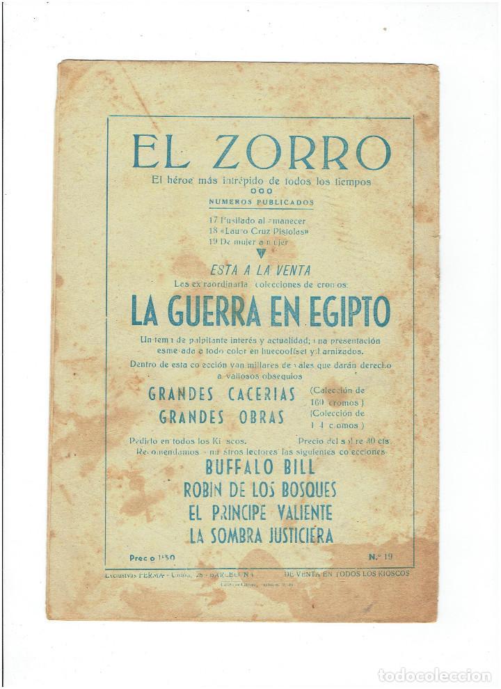 Tebeos: Archivo * EL ZORRO * Nº 8, 9, 15, 19, * FERMA 1956 * ORIGINALES * - Foto 10 - 286893638