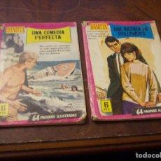 Livros de Banda Desenhada: COLECCIÓN DAMITA Nº 329 UNA INGENUA EN HOLLYWOOD Y 366 UNA COMEDIA PERFECTA. ED. FERMA 1.958. Lote 287683713