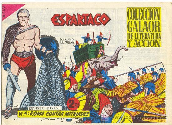 ESPARTACO Nº4 (Tebeos y Comics - Galaor)