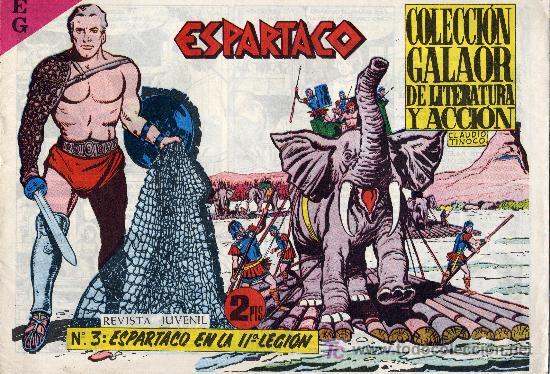 ESPARTACO Nº3 (CUADERNILLO ORIGINAL). EDITORIAL GALAOR. CLAUDIO TINOCO (Tebeos y Comics - Galaor)