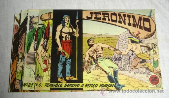 JERONIMO Nº 6, 21, 34, 35 Y 64 (Tebeos y Comics - Galaor)