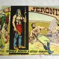 Tebeos: JERONIMO Nº 6, 21, 34, 35 Y 64. Lote 26477973