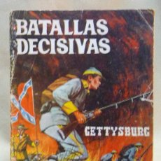 Tebeos: COMIC, NOVELA GRAFICA PARA ADULTOS, BATALLAS DECISIVAS, GETTYSBURG, GALAOR. Lote 23812870