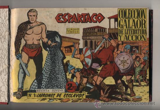 ESPARTACO. GALAOR 1964. COLECCIÓN COMPLETA (26 EJEMP.) ENCUADERNADA EN UN TOMO. ESCASA (Tebeos y Comics - Galaor)