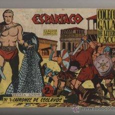 Tebeos: ESPARTACO. GALAOR 1964. COLECCIÓN COMPLETA (26 EJEMP.) ENCUADERNADA EN UN TOMO. ESCASA. Lote 28649691