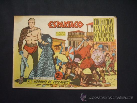 COLECCION GALAOR DE LITERATURA Y ACCION - ESPARTACO - Nº 1 - LADRONES DE ESCLAVOS - (Tebeos y Comics - Galaor)