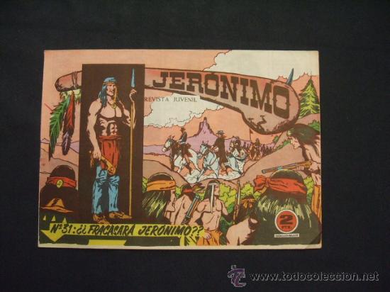 JERONIMO - Nº 31 - ¿FRACASARA JERONIMO? - EDICIONES GALAOR - (Tebeos y Comics - Galaor)