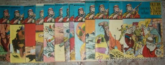 LAWRENCE DE ARABIA (GALAOR) 15 EJ (COMPLETA) VER DESCRIPCION (Tebeos y Comics - Galaor)