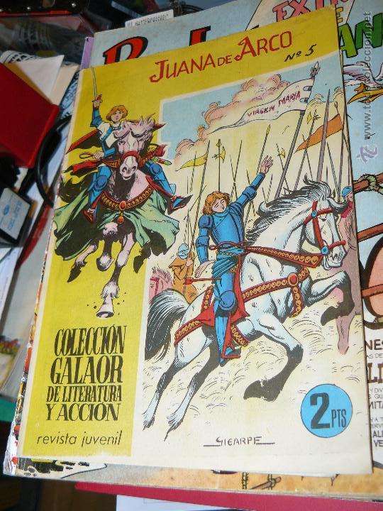 TEBEOS-COMICS CANDY - JUANA DE ARCO - Nº 5 - GALAOR - 1965 - GIGARPE - DIFICIL *AA99 (Tebeos y Comics - Galaor)